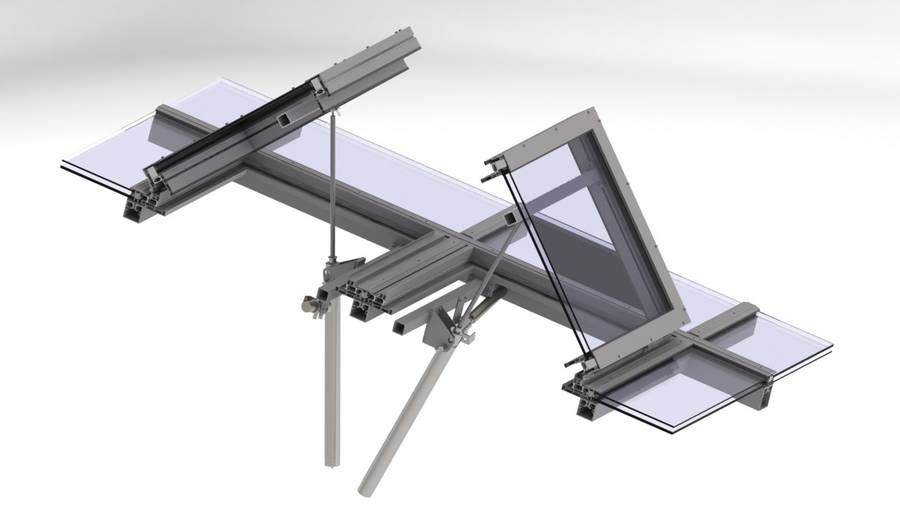 Coperture in vetro shed tetto in vetro da greenlux lucernari for Piani tetto shed